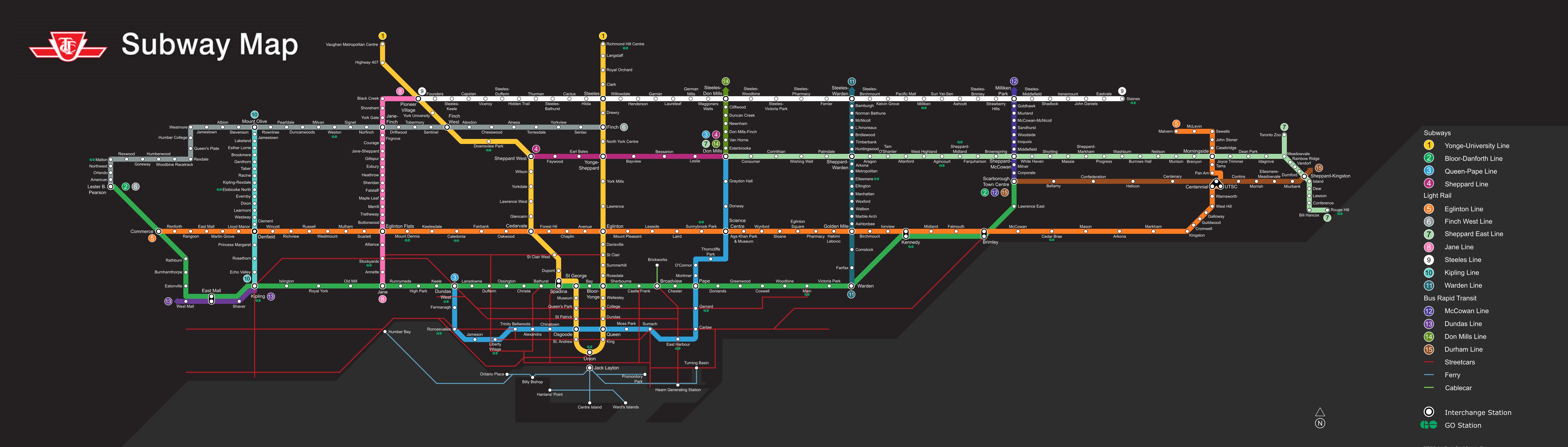 Toronto Dream Subway Map.This Ttc Fantasy Map Is Every Toronto Commuter S Dream Urbanized