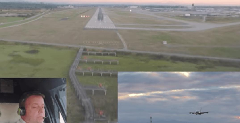 Pilot shares incredible bird's eye view footage of plane landing at YVR (VIDEO)