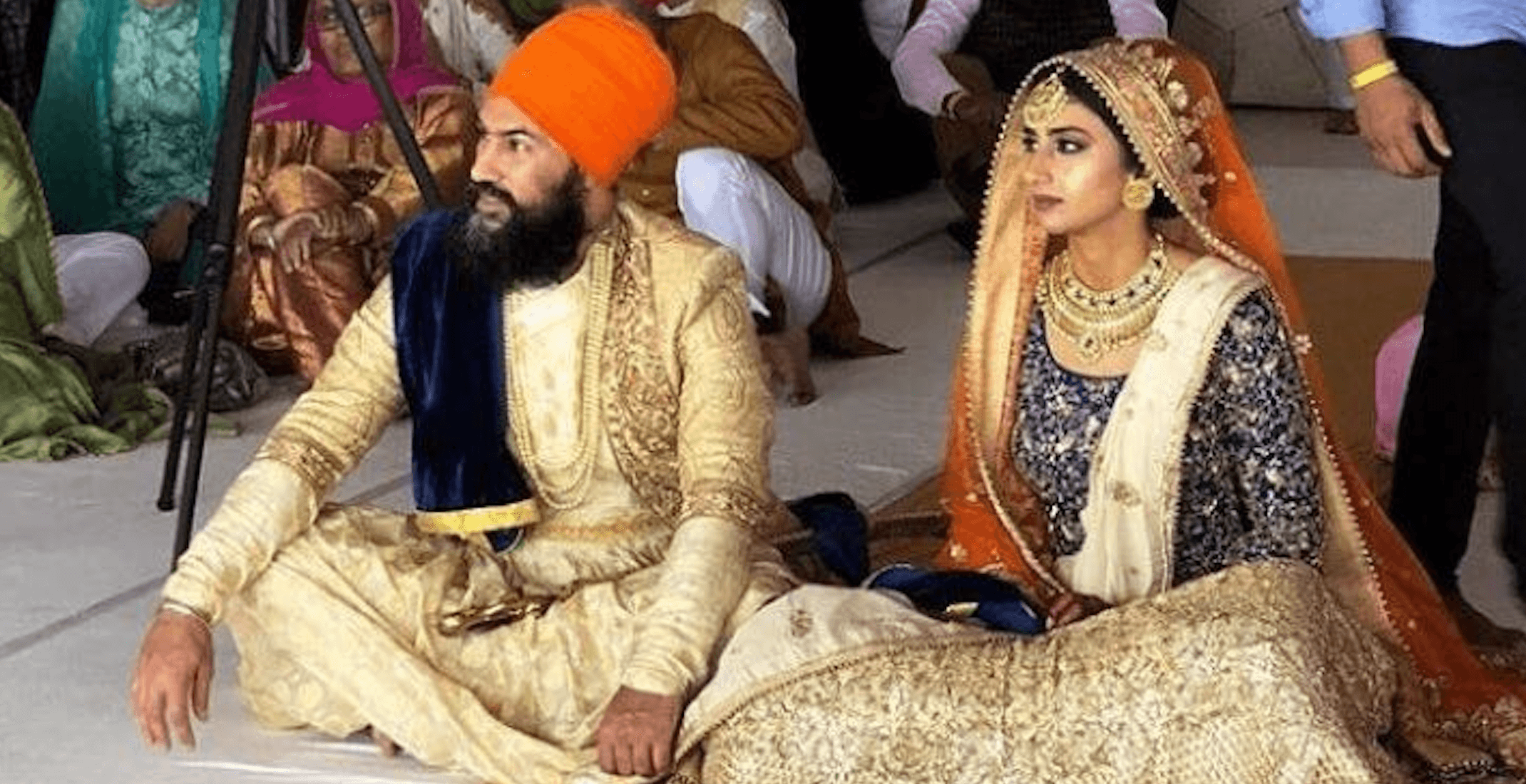 It's official: NDP leader Jagmeet Singh weds designer Gurkiran Kaur Sidhu (PHOTOS)