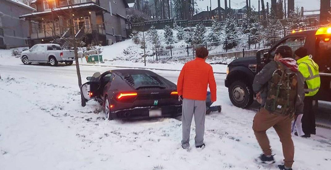Vancouver snow lamborghini