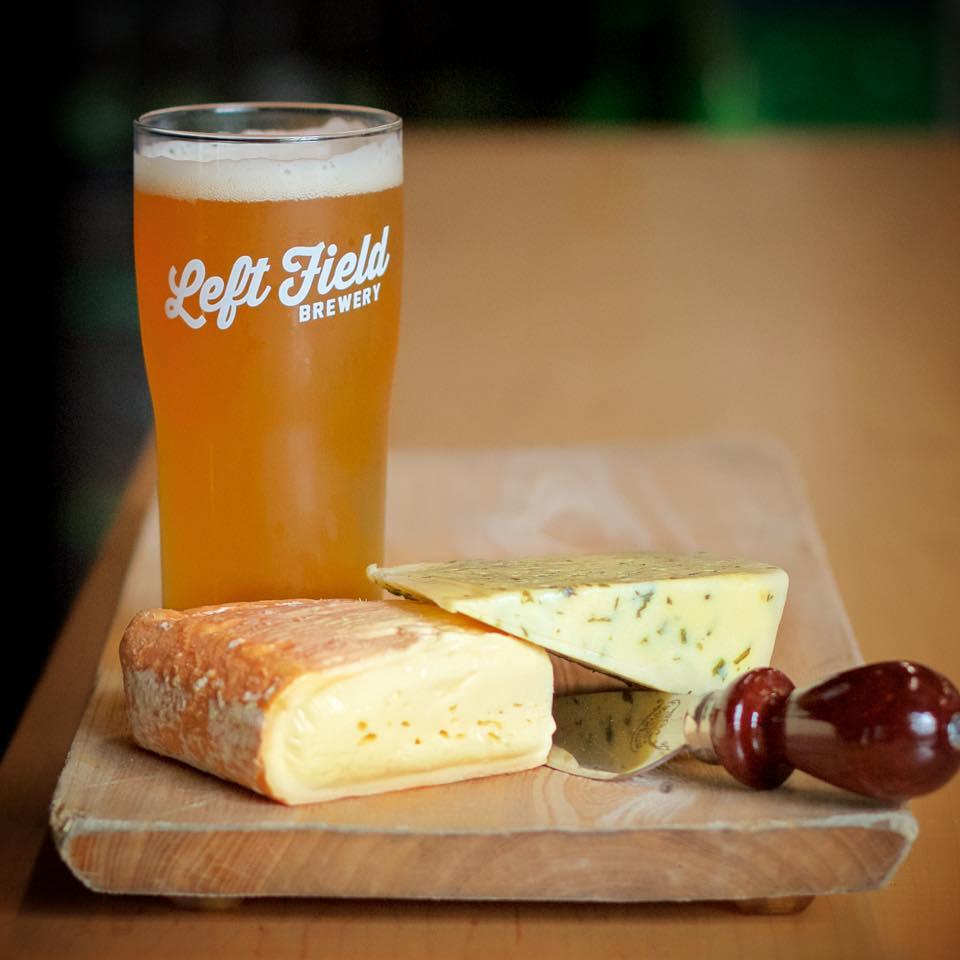 Left Field Brewery cheese beer