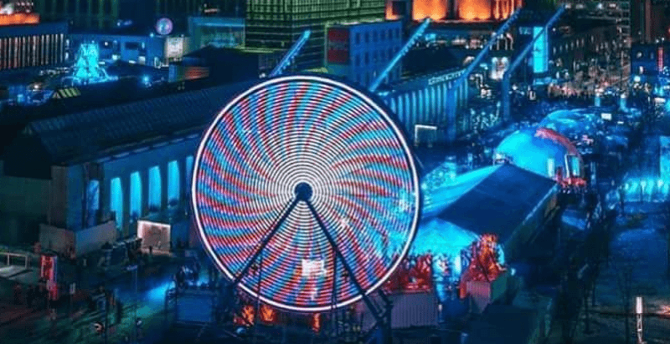 You can ride this neon Ferris wheel for FREE starting next week (PHOTOS)