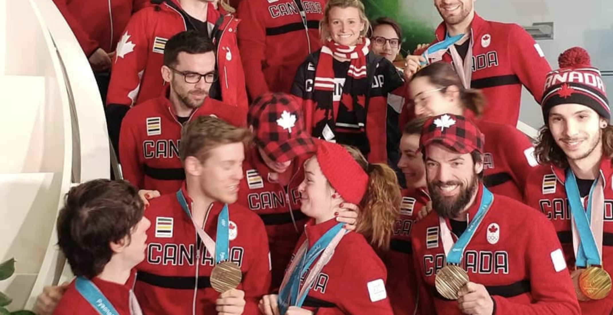 Canadian Olympians return home to huge crowd at Montreal Trudeau airport