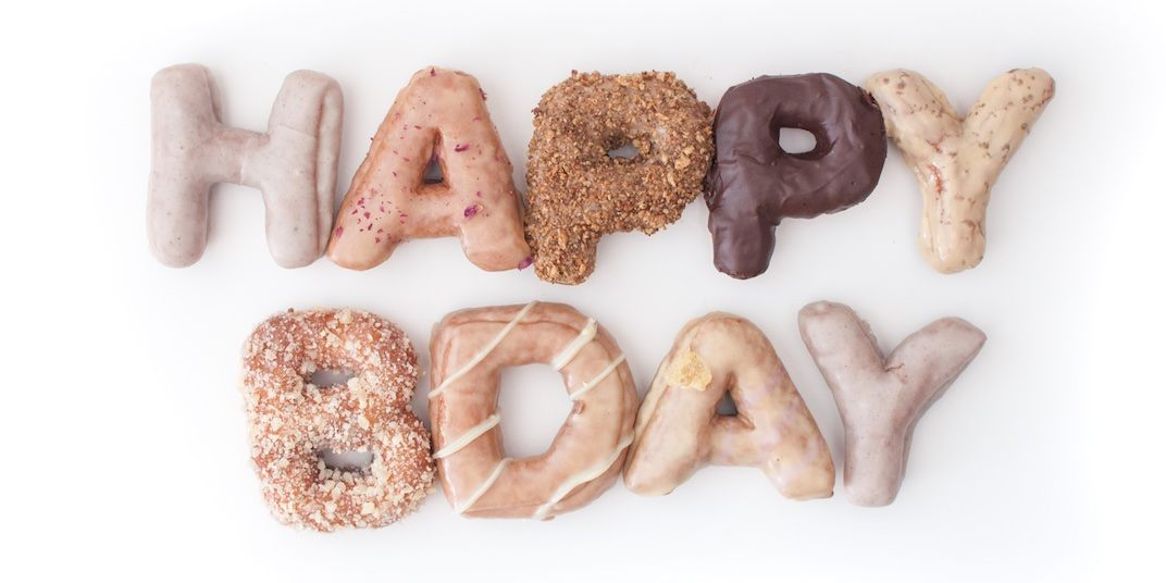 Happy Bday Donut Letters