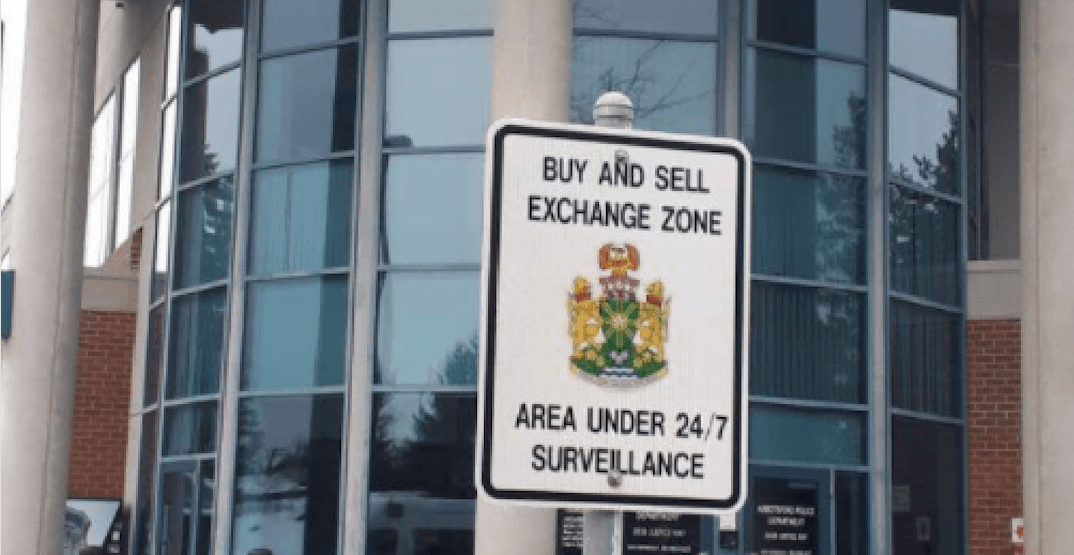Abbotsford Police have set up a 'Buy and Sell Exchange Zone' at their headquarters