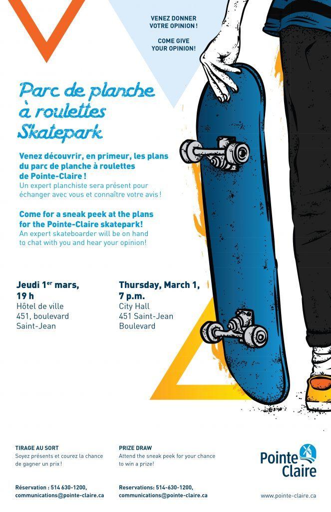 Skate park pointe claire