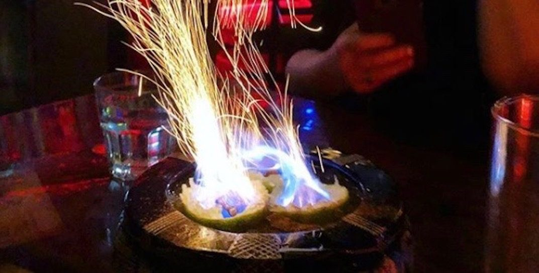 Get giant flaming cocktails at this Vancouver bar