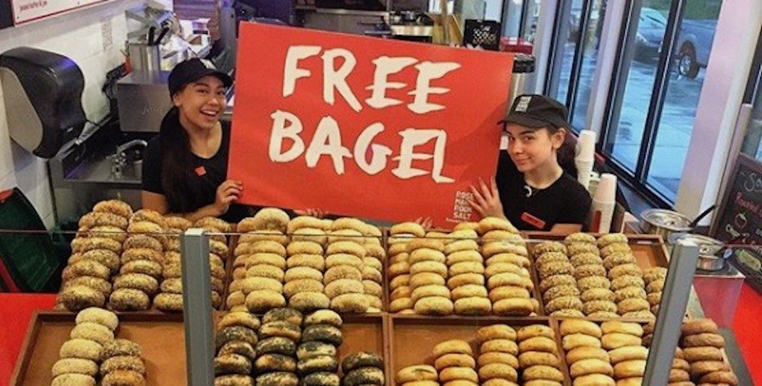 Get FREE bagels at all Rosemary Rocksalt locations next week