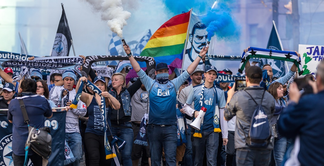 Southsiders whitecaps march