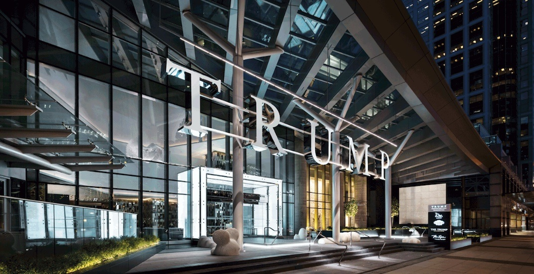 Trump tower vancouver exterior