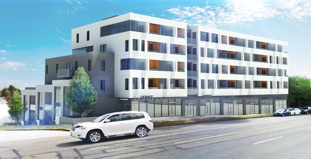 Block-sized land assembly rental housing proposed for Renfrew Street