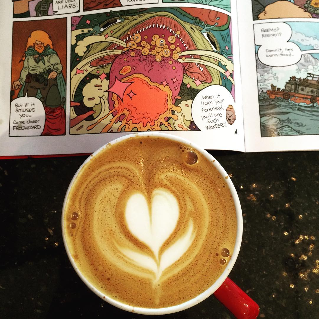 the sidekick comics latte coffee