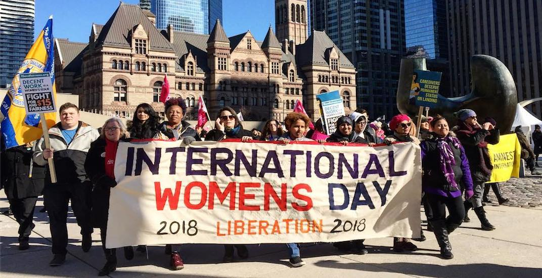 19 inspiring photos from the International Women's Day march and rally in Toronto
