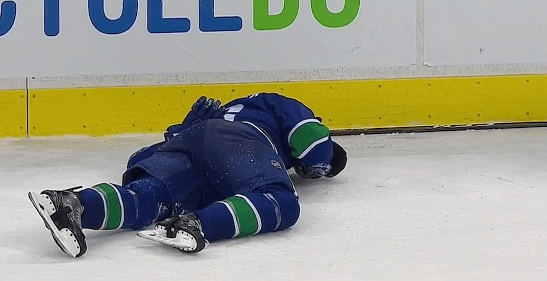 Canucks' Boeser taken to hospital after suffering serious-looking injury