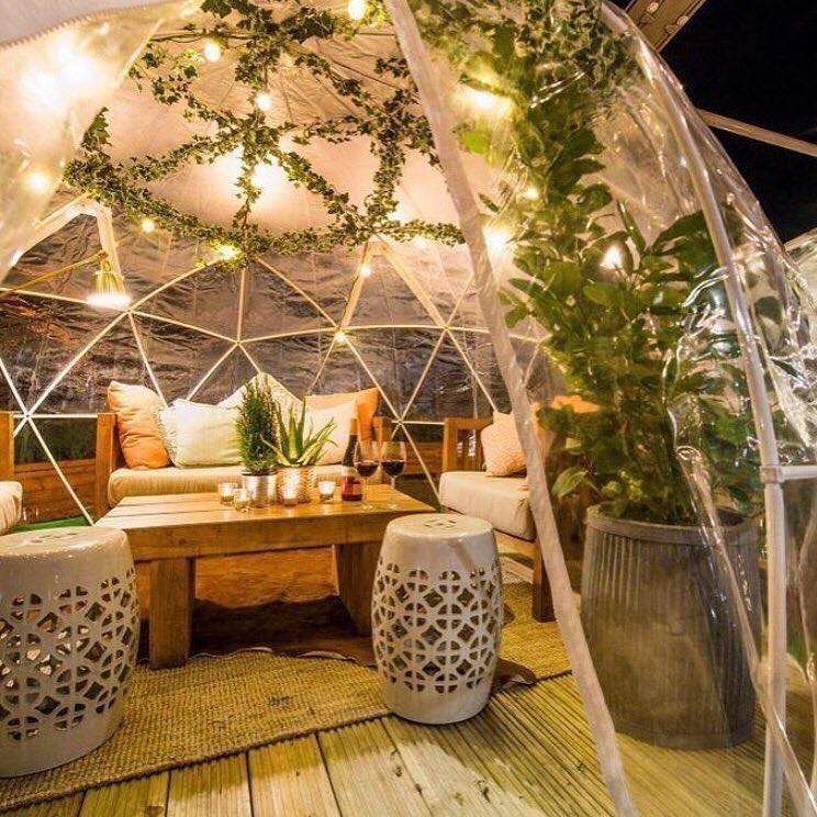 garden domes dinner party