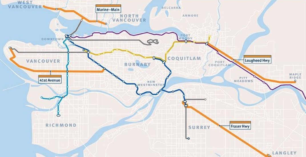 4 new B-Line routes to be launched in Metro Vancouver by end of 2019 (MAP)