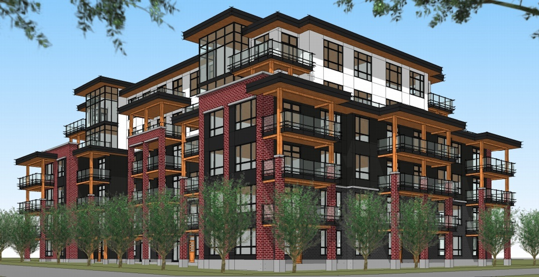 6 storey residential building proposed for east broadway for Fha house plans