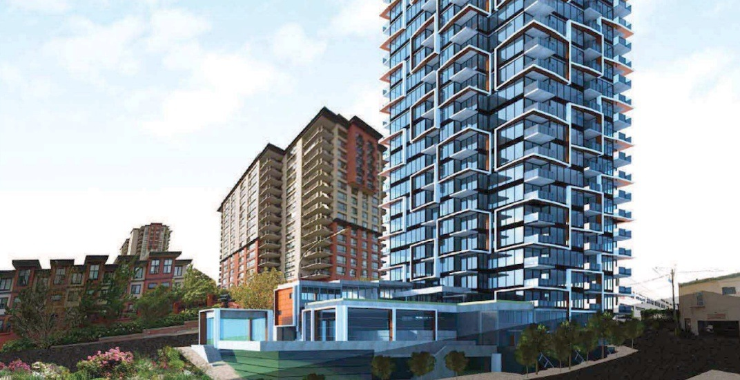 29-storey residential tower with park proposed for downtown New Westminster
