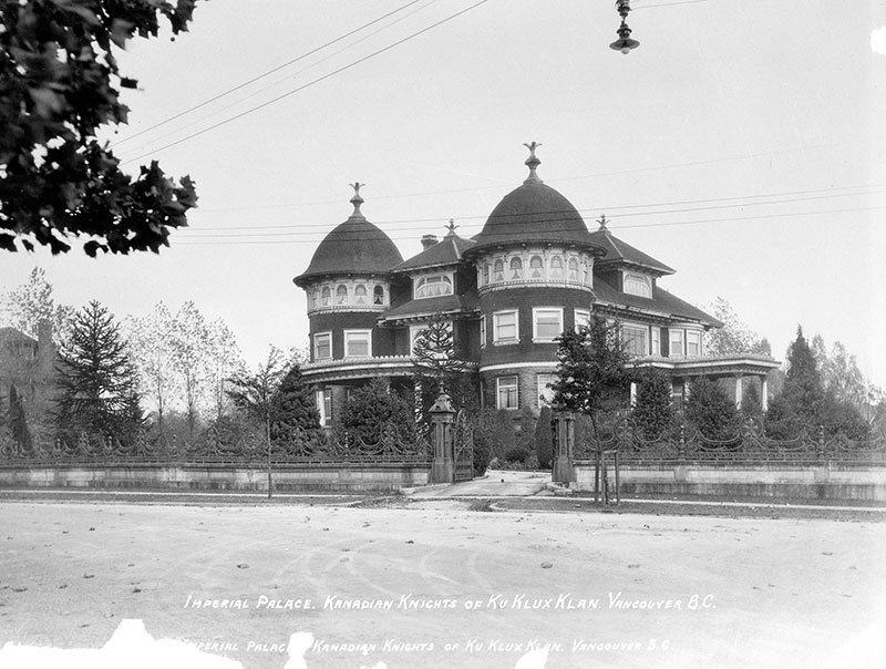 "Glen Brae Manor served as the KKK's ""Imperial Palace"" in 1925. Photo by Stuart Thomson, City of Vancouver Archives #99-1495."