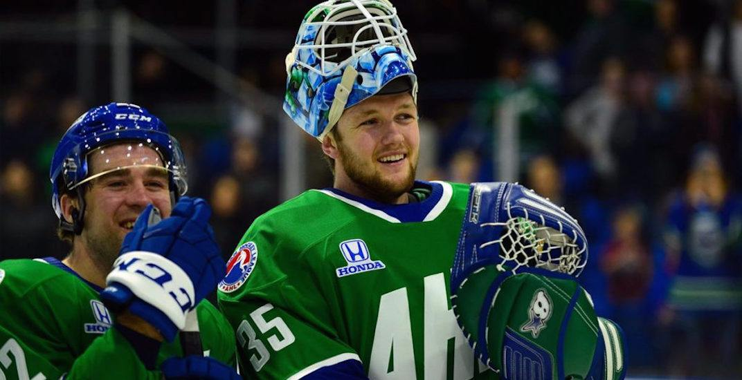 Canucks prospect Demko returns for first practice in nearly 2 months