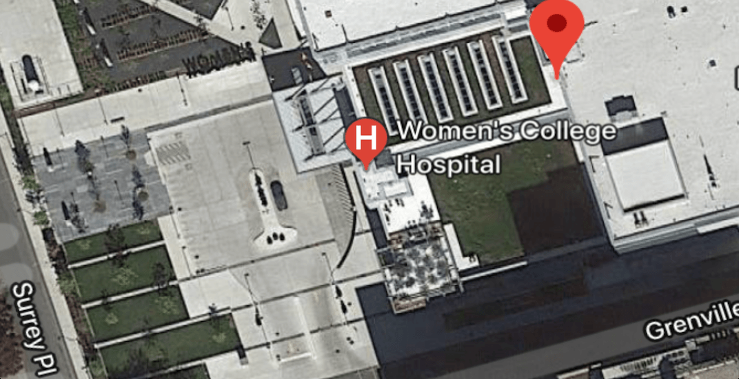 Massive penis shape spotted in Women's College Hospital parking lot