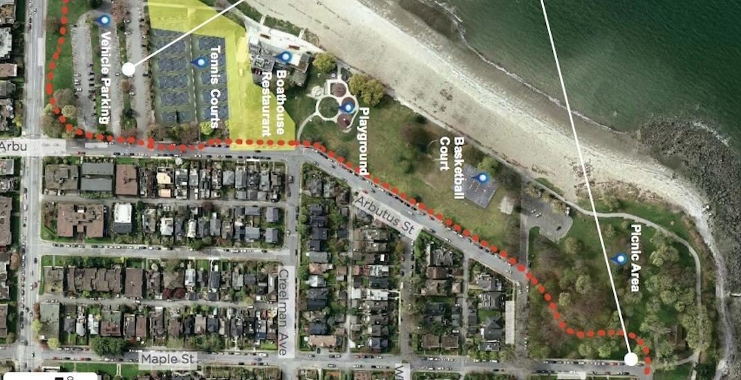 New bike lane route through Kitsilano Beach Park proposed