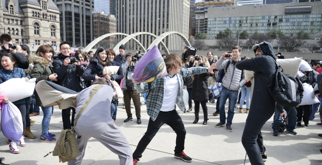 A massive pillow fight is happening in Toronto next month