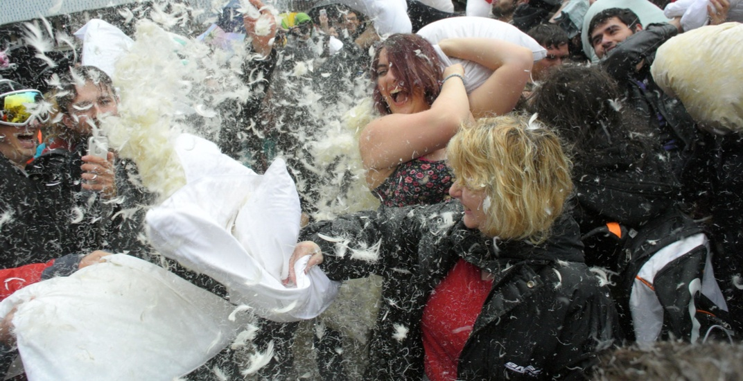 A massive public pillow fight is happening in Vancouver next week