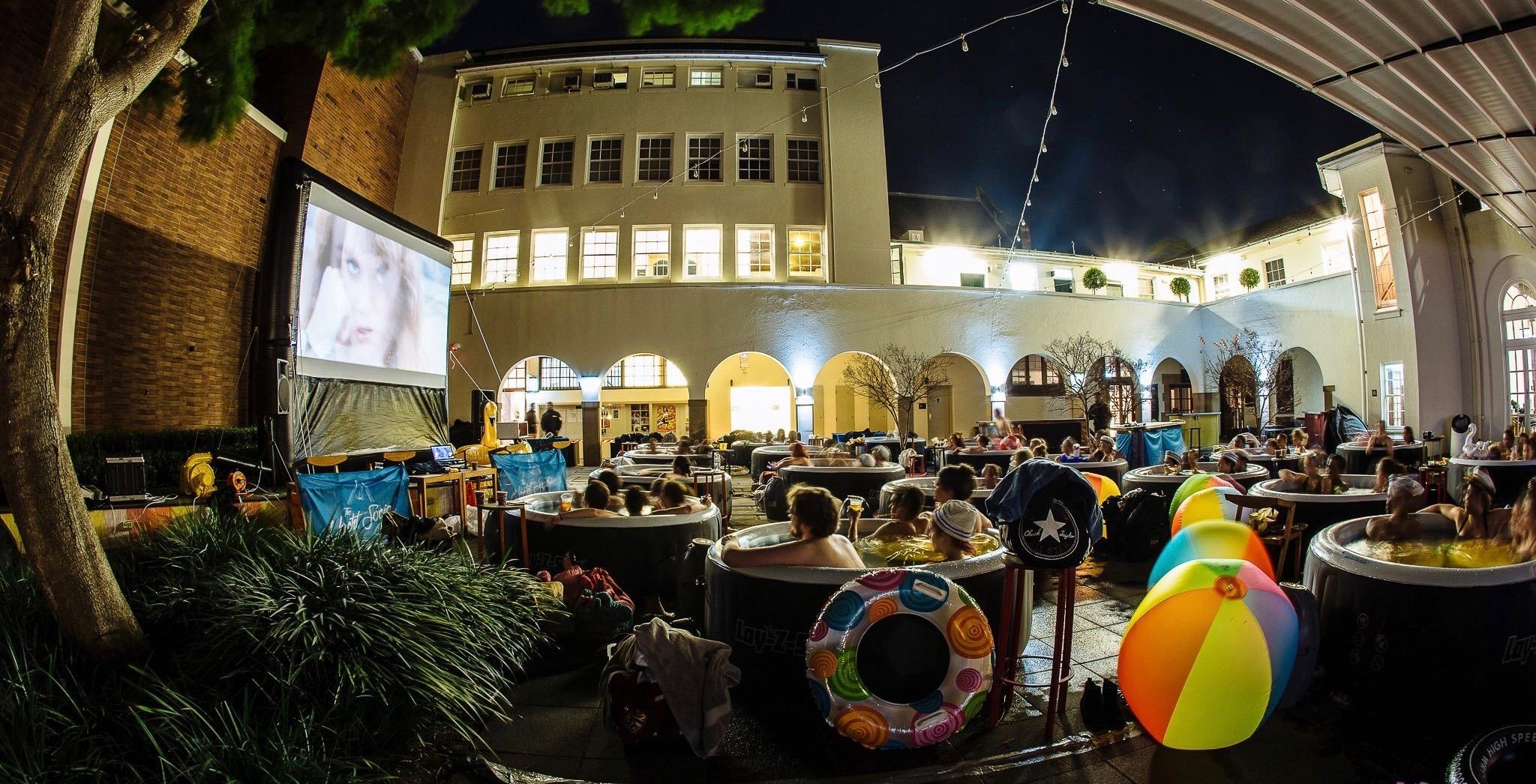 Hot tub movie nights 1