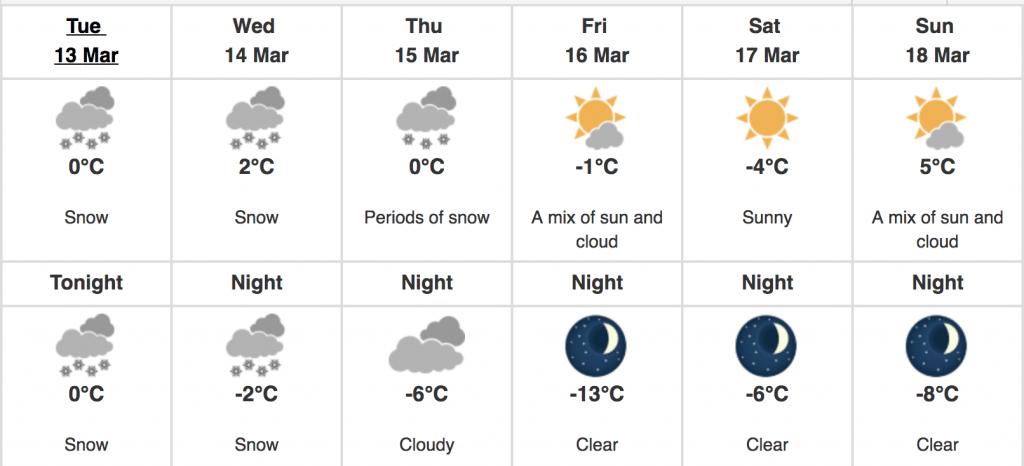 Montreal snow 10 cm
