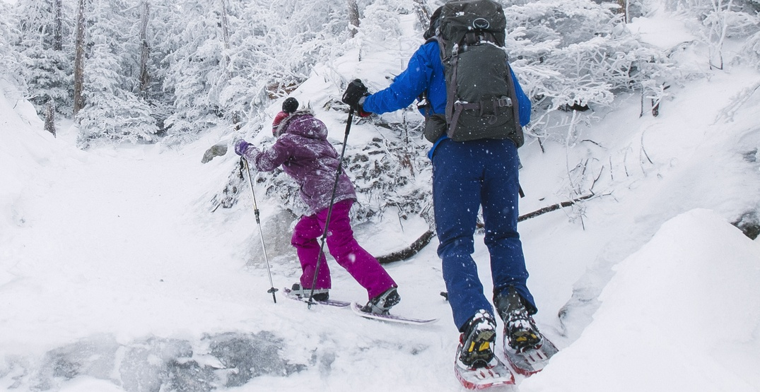 Kids can snowshoe for FREE at Whistler Olympic Park during spring break