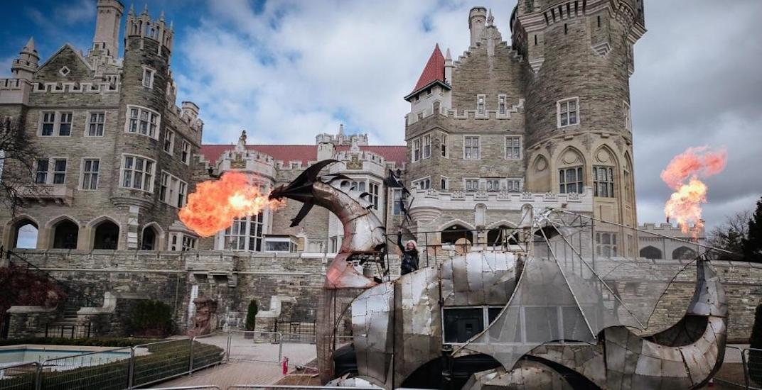 There's an epic fire breathing Dragon at Casa Loma right now (PHOTOS)