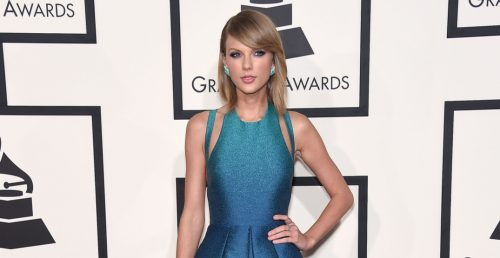 Taylor Swift arrives to the Grammy Awards 2015 on February 8, 2015 in Los Angeles, CA