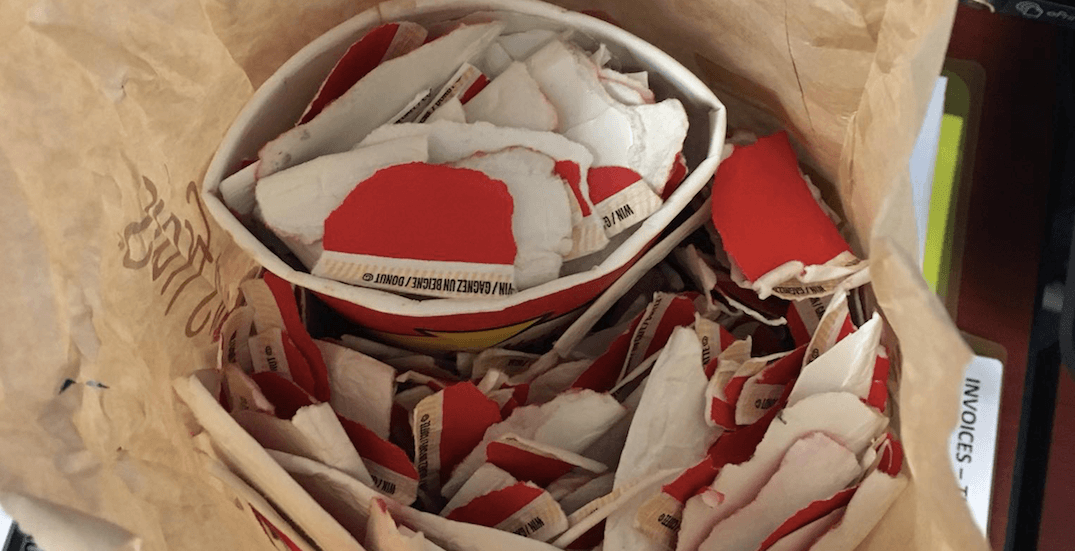 Tim Hortons accidentally hands out bag of Roll Up the Rim wins instead of sandwich