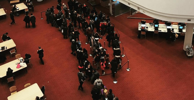 Toronto Public Library book sale causing massive line up (PHOTOS)