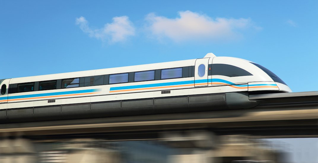Maglev magnectic levitation train high speed rail
