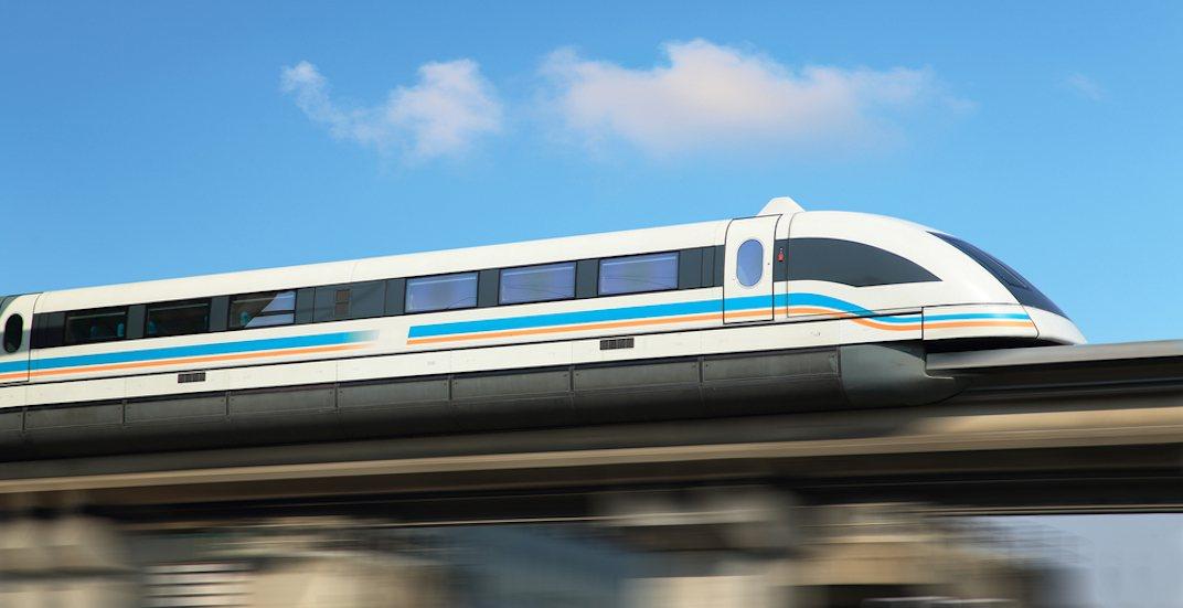 Maglev magnectic levitation train high speed rail