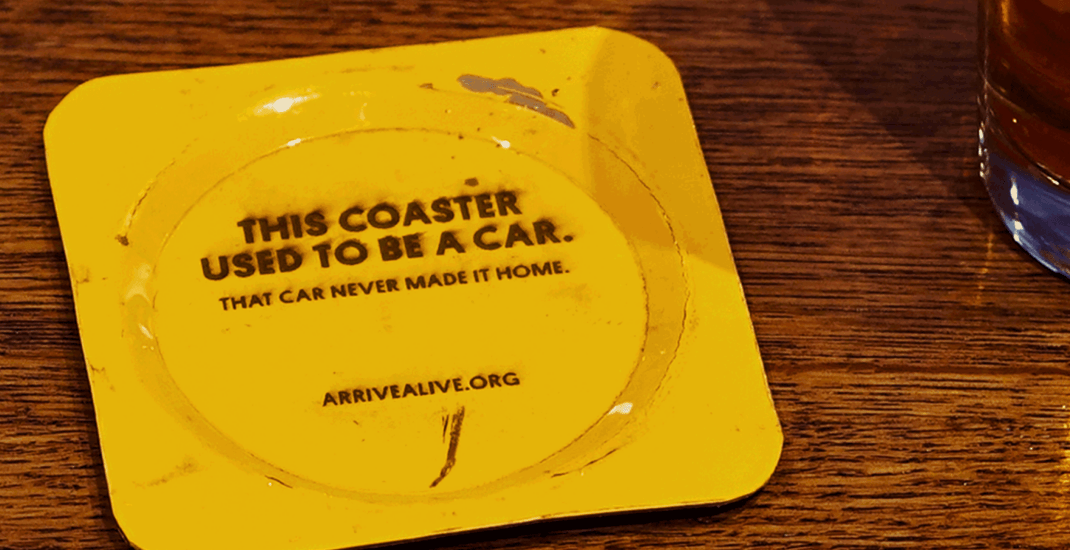 Wrecked Car Coasters a reminder to party responsibly this St. Paddy's Day