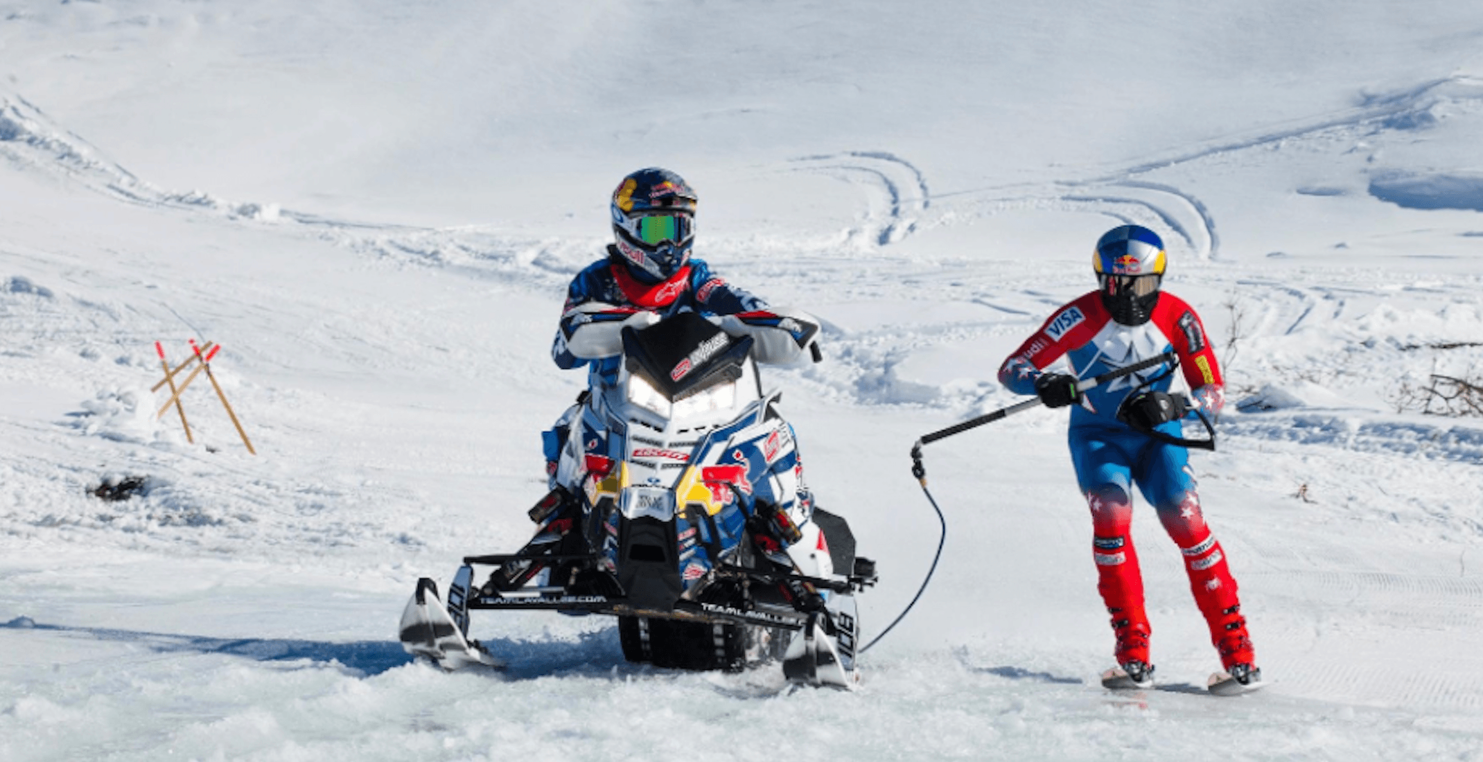 Red Bull is hosting an electrifying hillcross snowmobiling competition in Quebec