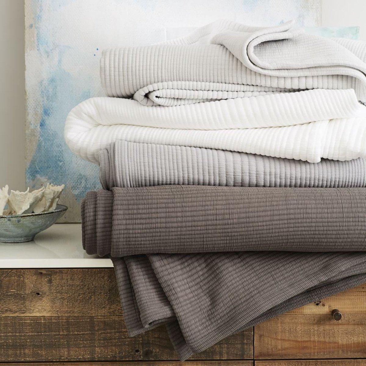 Ribbed Blankets / West Elm