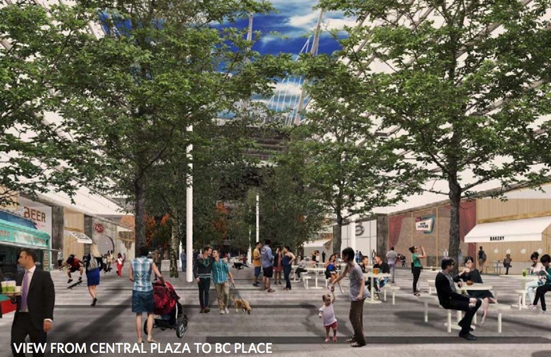 Plaza of Nations Northeast False Creek