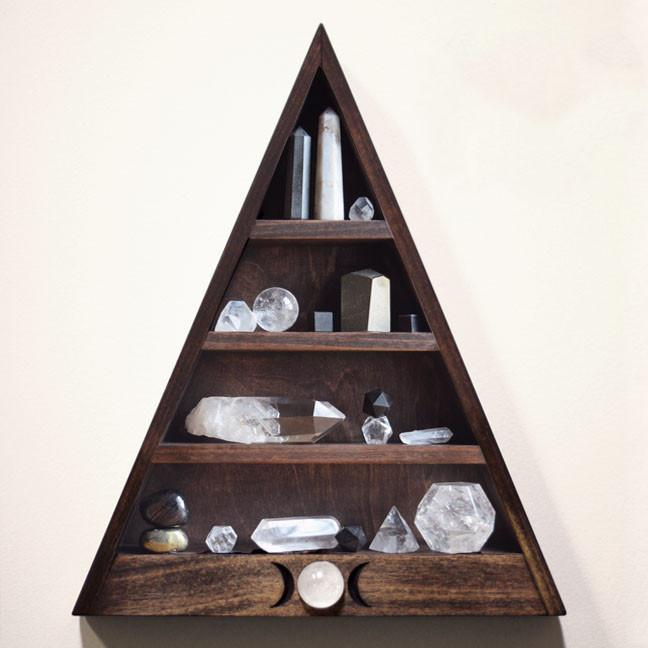 Triple Moon Shelf /Stone and Violet