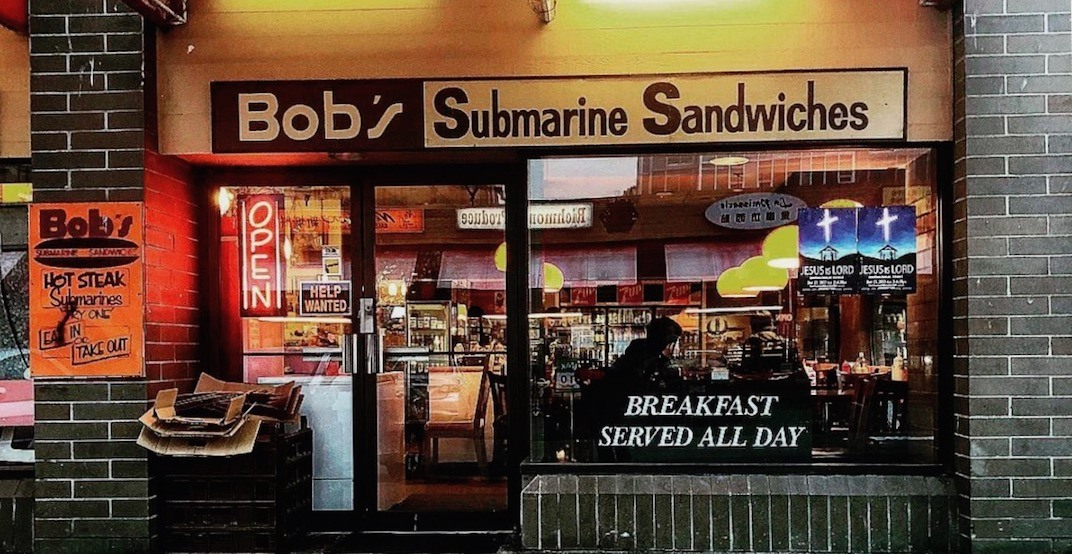 Legendary Metro Vancouver eatery Bob's Subs is closing