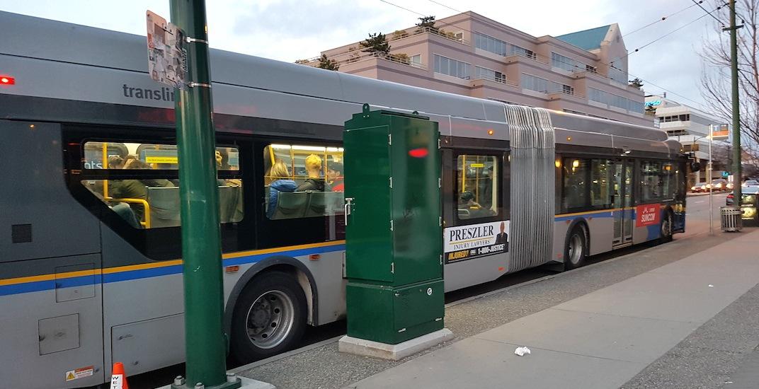 Arbutus street 99 bus stop