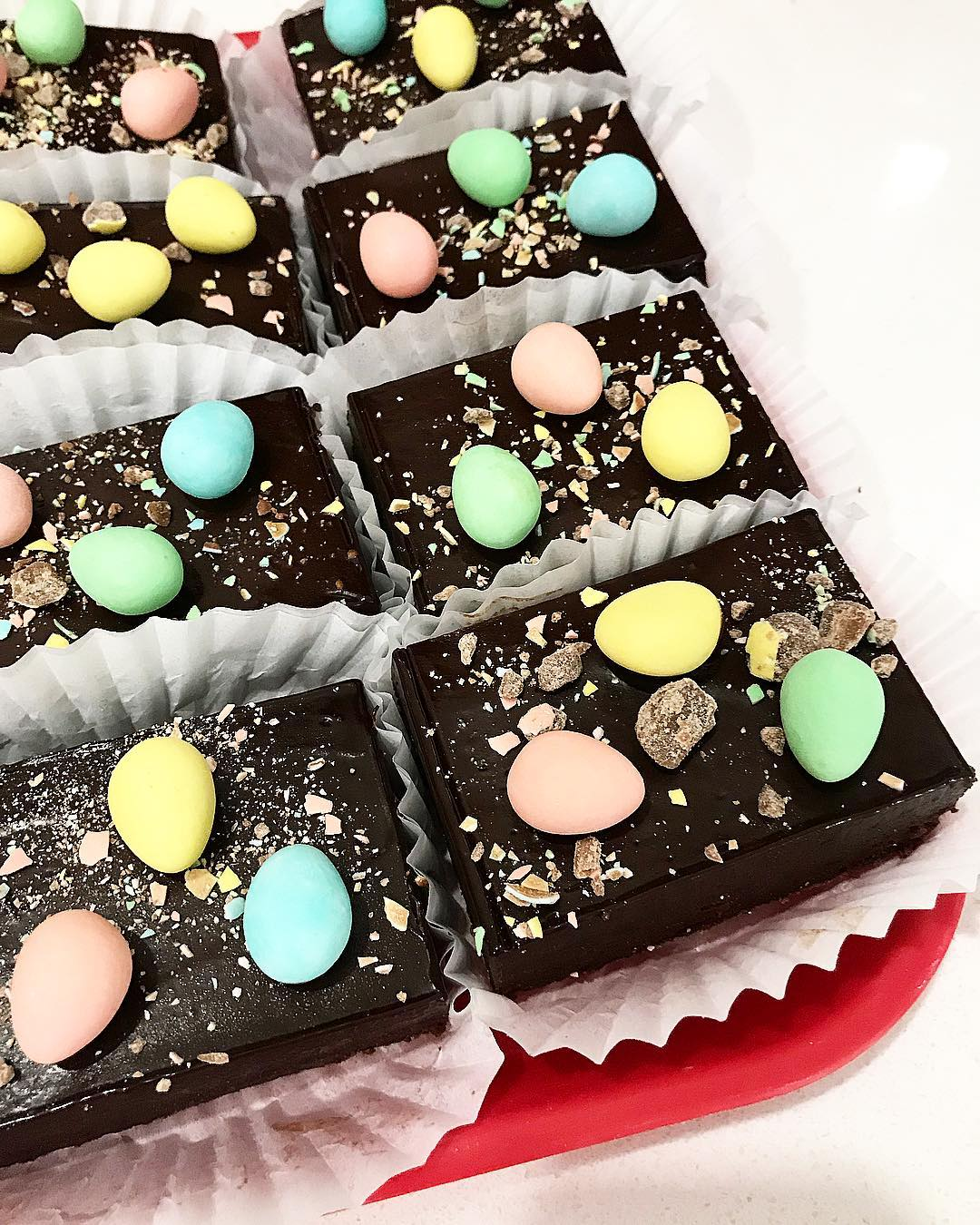 The Rolling Pin mini egg easter brownies