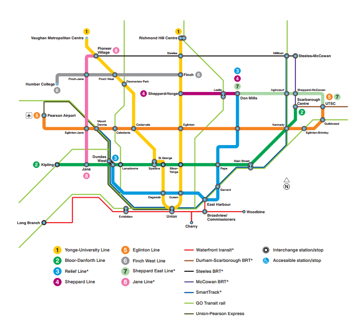 Toronto Subway Map Yonge Line.What Toronto Transit Should Look Like In 15 Years Thanks To Recent