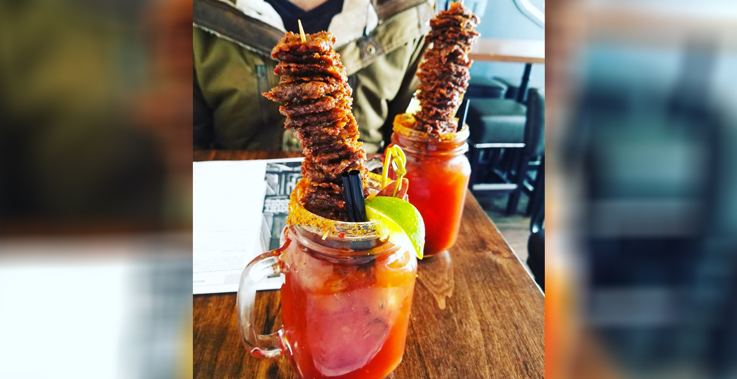 Get the most epic sky-high meaty Caesars at this Calgary spot