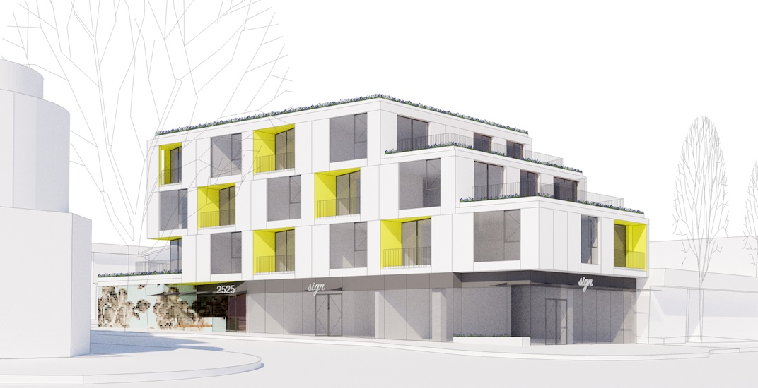 New residential building with retail proposed for West Broadway in Kitsilano