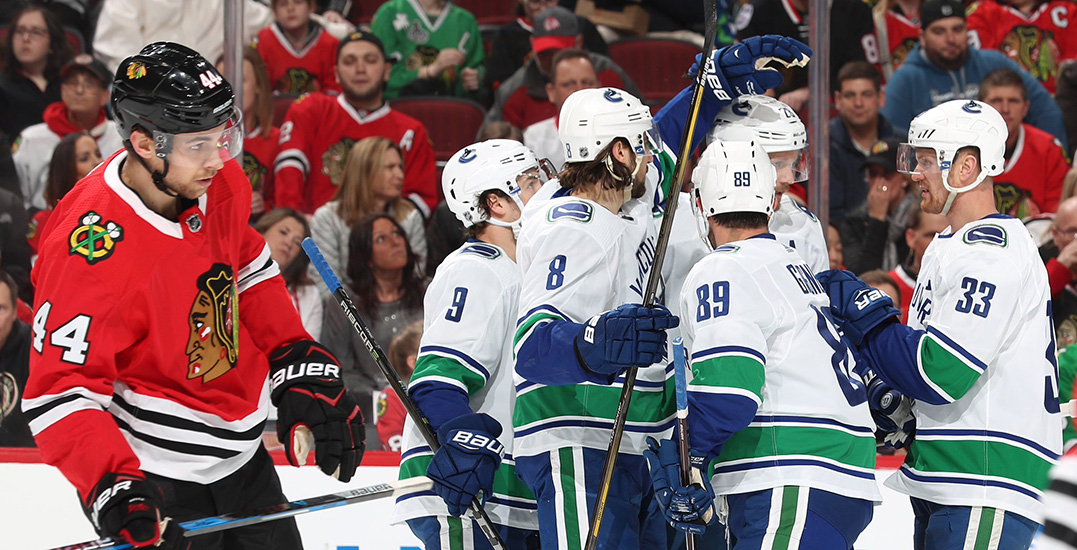 Henrik Sedin breaks 56-game goal-drought in win over Blackhawks