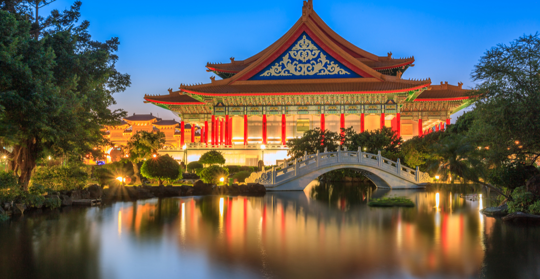 You can fly from Calgary to Taipei, Taiwan for $598 roundtrip